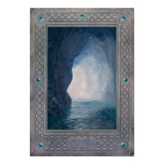 Merlin's Cave, Tintagel Poster