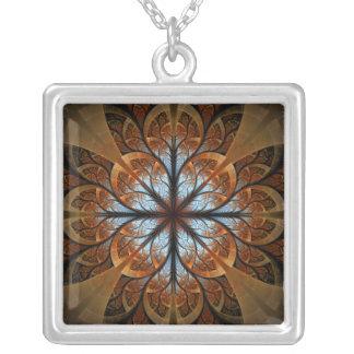 Merlin's Rose Square Pendant Necklace