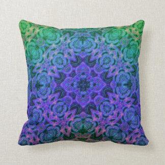 Merlin's Underwater Cottage Garden Mandala Pillow