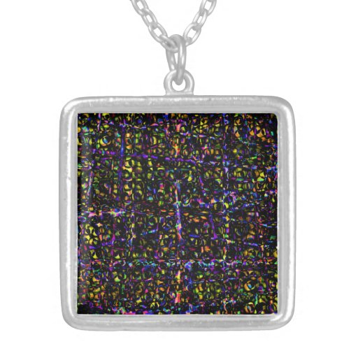 Merlins Window by Valxart.com Square Pendant Necklace