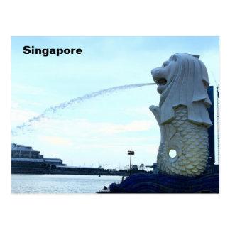 Merlion en Singapur Tarjeta Postal