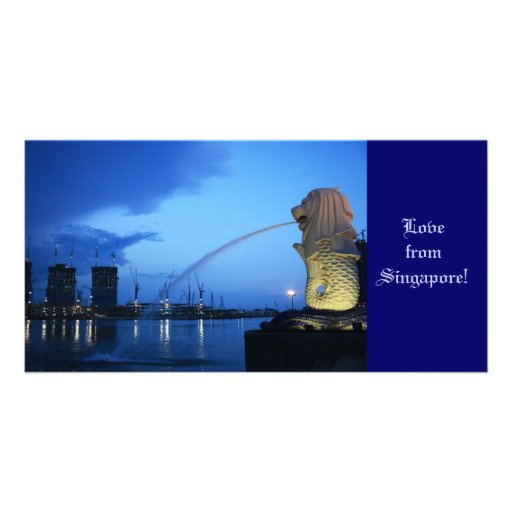 Merlion, Love from Singapore! Photo Card