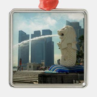 Merlion Sculpture Singapore Metal Ornament
