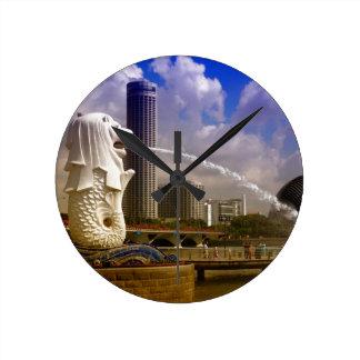 Merlion, Singapore Round Clock