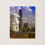 Merlion, Singapur Puzzle Con Fotos