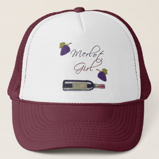 Merlot Girl - Vintage Wine Lovers Trucker Hat
