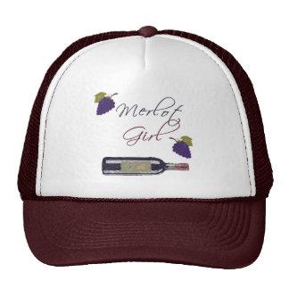 Merlot Girl - Vintage Wine Lovers Trucker Hat