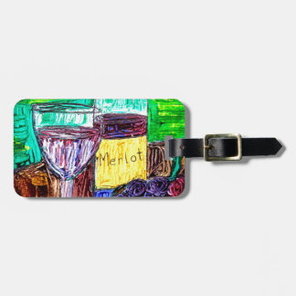 Merlot in the Abstract Luggage Tag