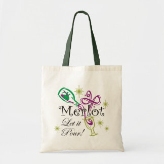 Merlot, Let it Pour! Tote Bag