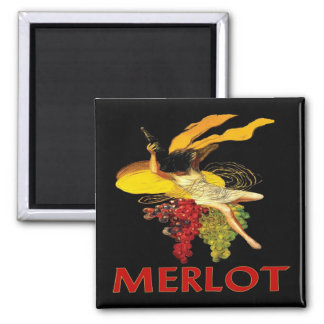 Merlot Maid With Grapes Refrigerator Magnets