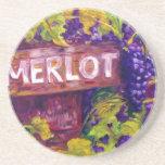 Merlot on the Vine Drink Coasters