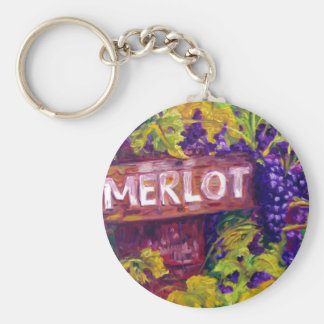 Merlot on the Vine Key Chains