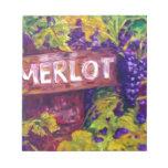 Merlot on the Vine Memo Notepad
