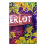 Merlot on the Vine Personalized Stationery