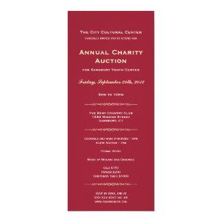 Merlot red business logo gala event corporate long card