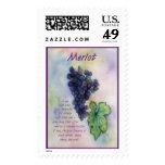 Merlot Red Wine Postage Stamp