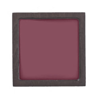 MERLOT (solid dark wine red color) ~ Jewelry Box