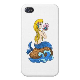 mermad bonito, el loveing, hermoso, maravilloso iPhone 4 carcasa