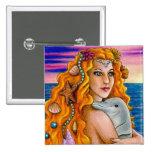 mermaid 13 Button