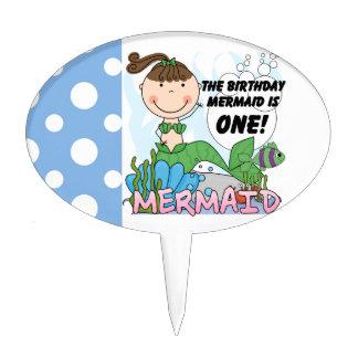Mermaid 1st Birthday Cake Topper