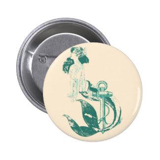 Mermaid 2 Inch Round Button