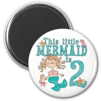 Mermaid 2nd Birthday Fridge Magnet