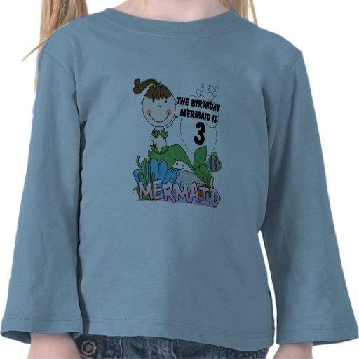 Mermaid 3rd Birthday Tshirts and Gifts