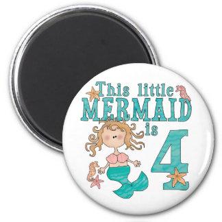 Mermaid 4th Birthday Magnet