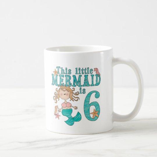 Mermaid 6th Birthday Coffee Mug