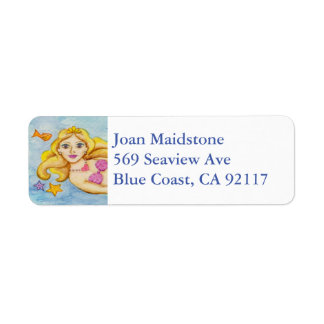 Mermaid address label