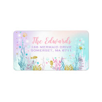 Mermaid Address Labels Magical Mermaid Party