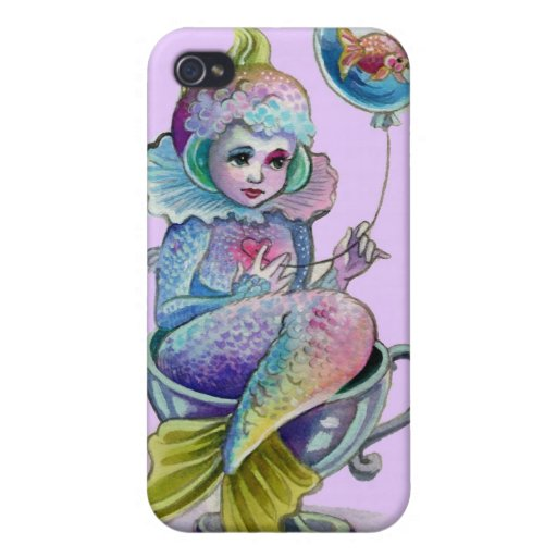 Mermaid Afloat Iphone case Covers For iPhone 4