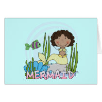 Mermaid - African American Tshirts and Gifts Card