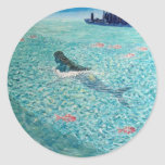 Mermaid against the Tide Classic Round Sticker