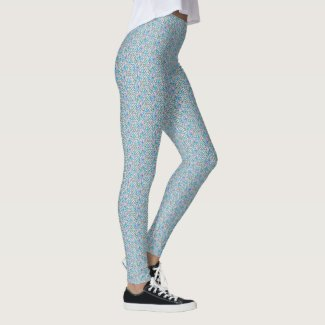 Mermaid: Allsports Isle, Gossamer, Blue Romance Leggings