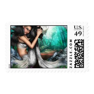 Mermaid Allure Postage Stamp