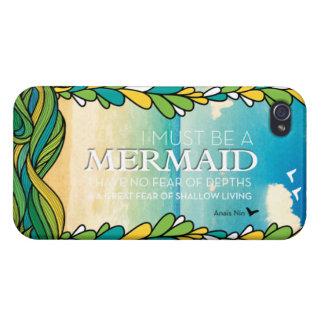 Mermaid - Anais Nin iPhone 4 Cover