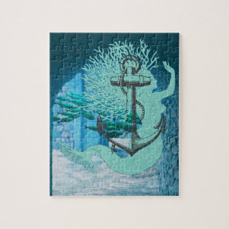 Mermaid And Anchor Jigsaw Puzzle