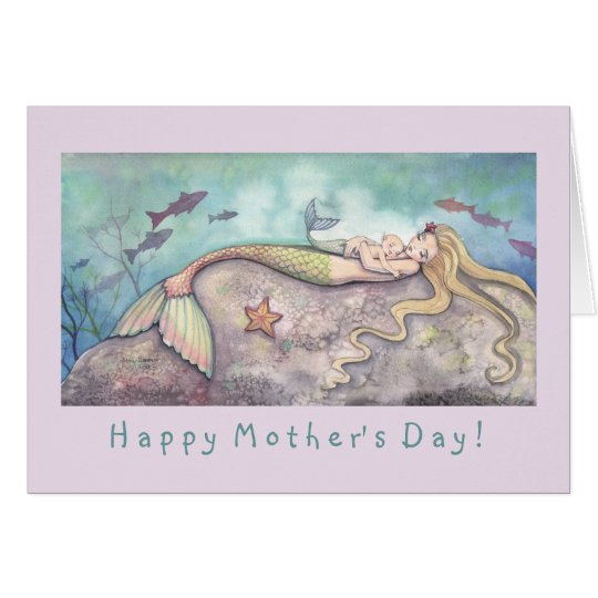 Mermaid and Baby Mother's Day Card