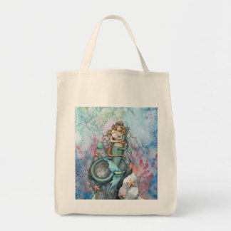 Mermaid and Baby Tote Bag by Molly Harrison
