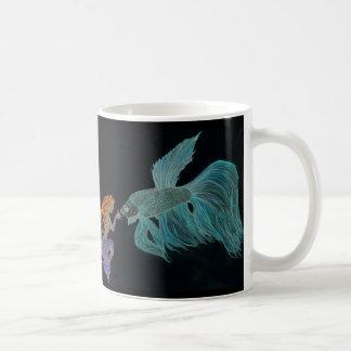 Mermaid and Beta Fish Mug