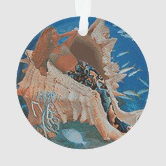 Mermaid and Big Seashell Ornament
