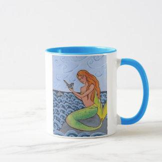 Mermaid and Bird Mug