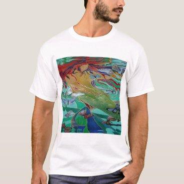 McTiffany Tiffany Aqua Mermaid and Butterflies T-Shirt