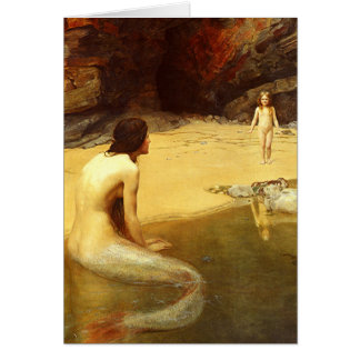 Mermaid and Child Card