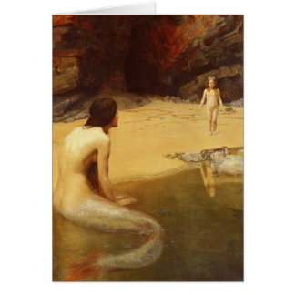Mermaid and Child Greeting Card