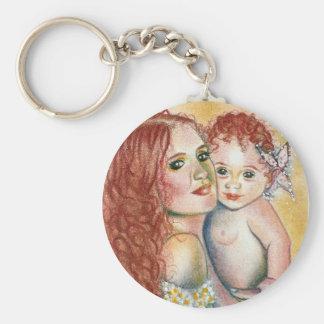 Mermaid and Child  Keychain