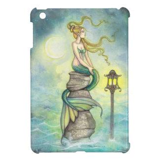 Mermaid and Crescent Moon Fantasy Art iPad Mini Covers