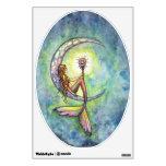 Mermaid and Crescent Moon Fantasy Art Wall Decal