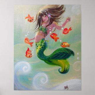 Mermaid and Dancing Fish poster